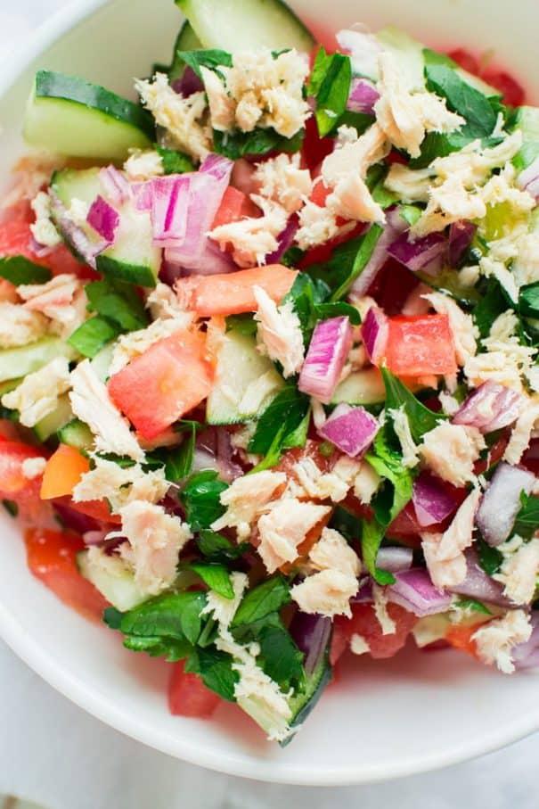 Closeup of Tuna Salad
