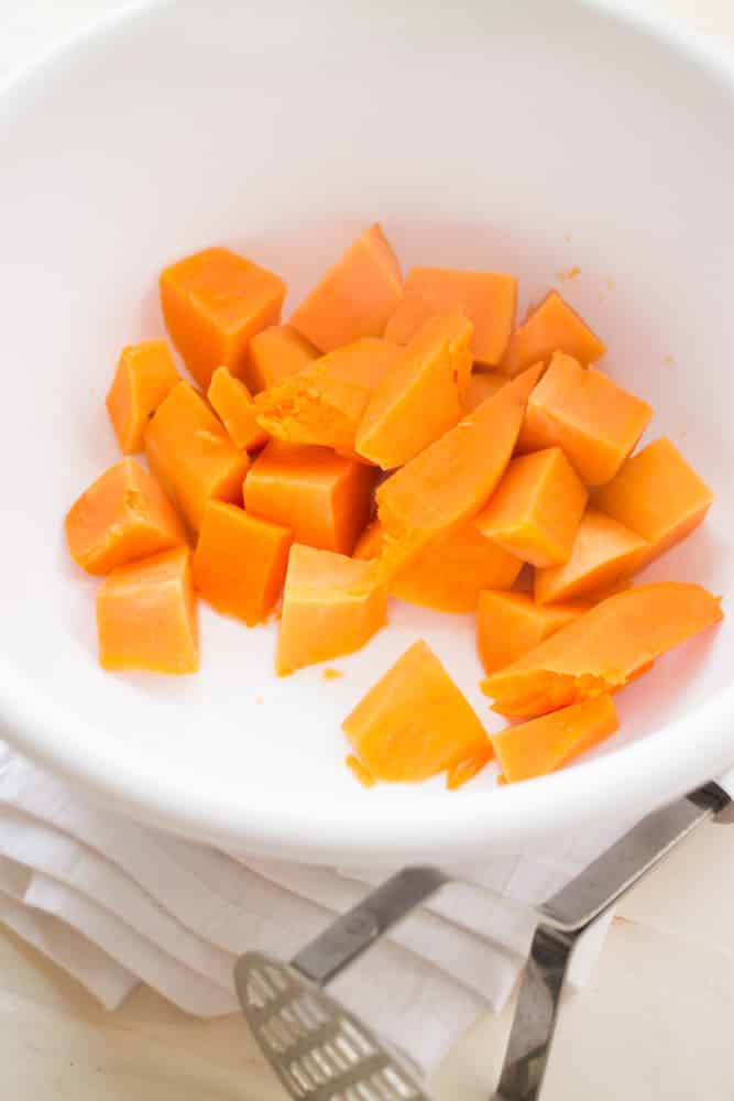 sweet potatoes in bowl