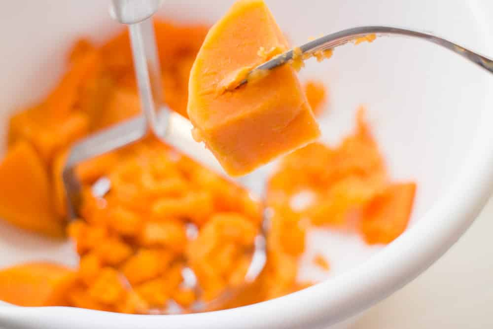 softened sweet potato