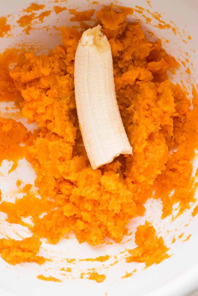 banana and sweet potatoes in bowl