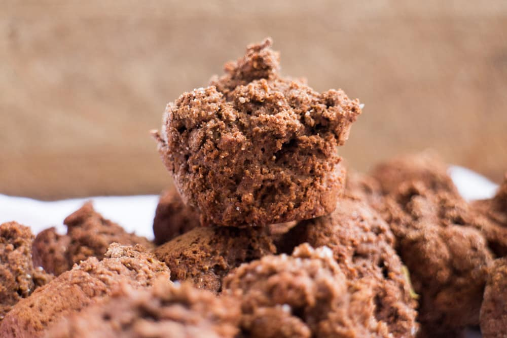 no sugar chocolate muffin