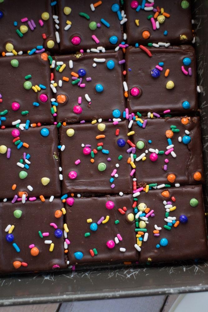 Chocolate Birthday Brownies