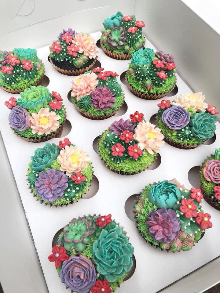 Succulent Garden Cupcakes