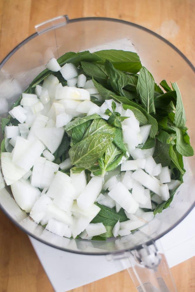 chutney in food processor