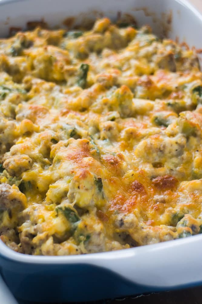 Scrambled Egg and Ground Beef Casserole