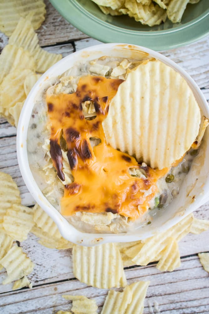 Tuna Dip with Potato Chips