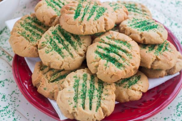 Peanut Butter Christmas Sugar Cookies