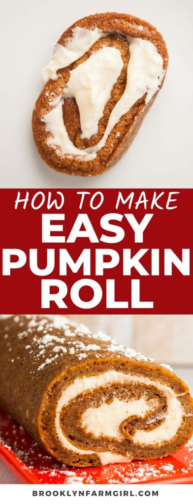 This easy to make,  mess-free homemade Pumpkin Roll With Cream Cheese Filling is so moist and delicious. It's the ultimate Thanksgiving or holiday dessert with all of the comforting fall flavors you love!