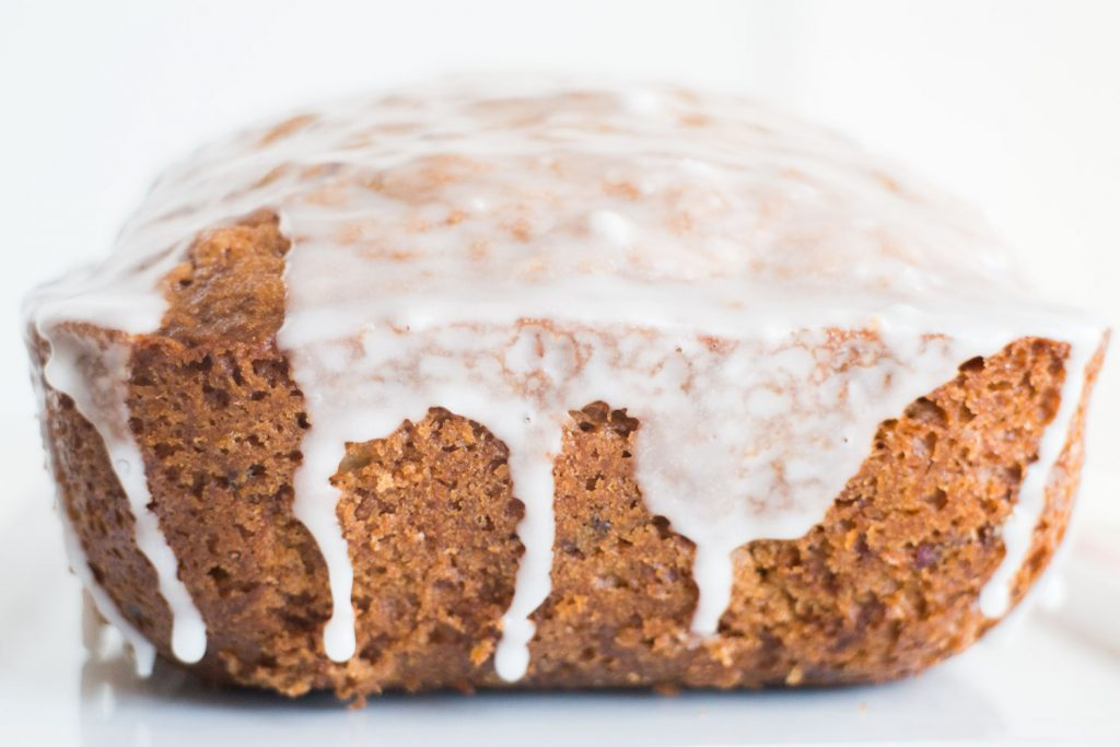 cucumber bread with sugar frosting glaze on top