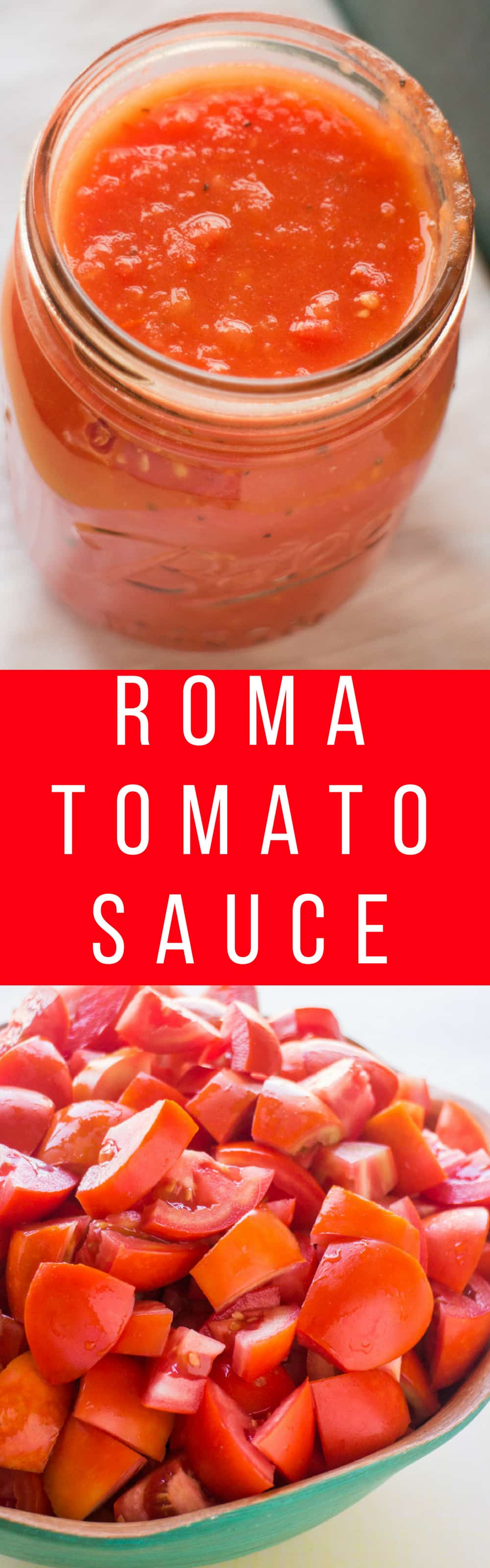 Roma Tomato Sauce recipe that requires no peeling or blanching! This is a easy creamy sauce that's perfect for growing garden tomatoes! Serve on pasta, or use later by canning or freezing.