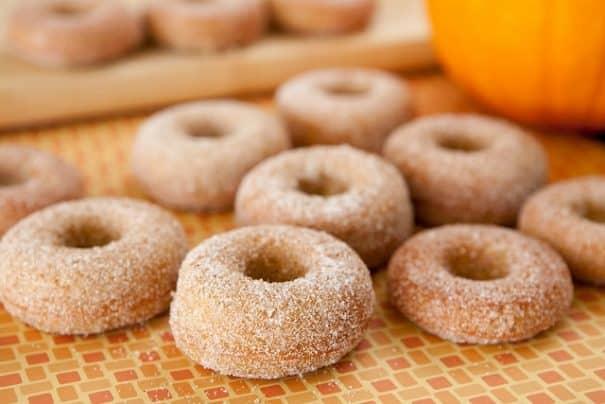 Cinnamon Sugar Pumpkin Donuts