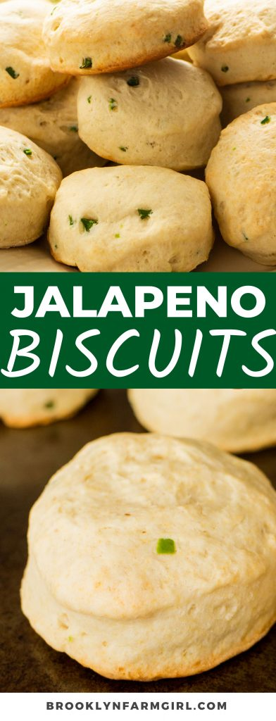 Add a southern flair to your meals with these soft Jalapeno Buttermilk Biscuits. Made with tangy buttermilk and simple ingredients, each bite is fluffy and buttery with a spicy kick!