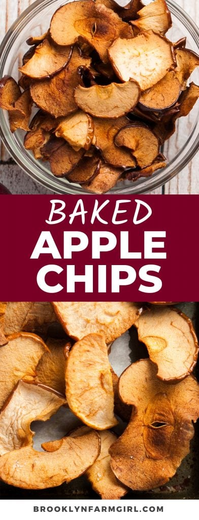 Push the potato chips aside because these 2-ingredient Homemade Baked Apple Chips will be your new favorite snack! Sprinkled with a little sea salt, these healthy chips are so addicting and easy to make in the oven or air fryer.