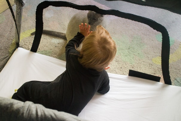 Real Mom Review of the Lotus Travel Crib, the lightweight pack and play that makes flying and airports so easy!  Great for toddlers and babies!  Trust me you need this!