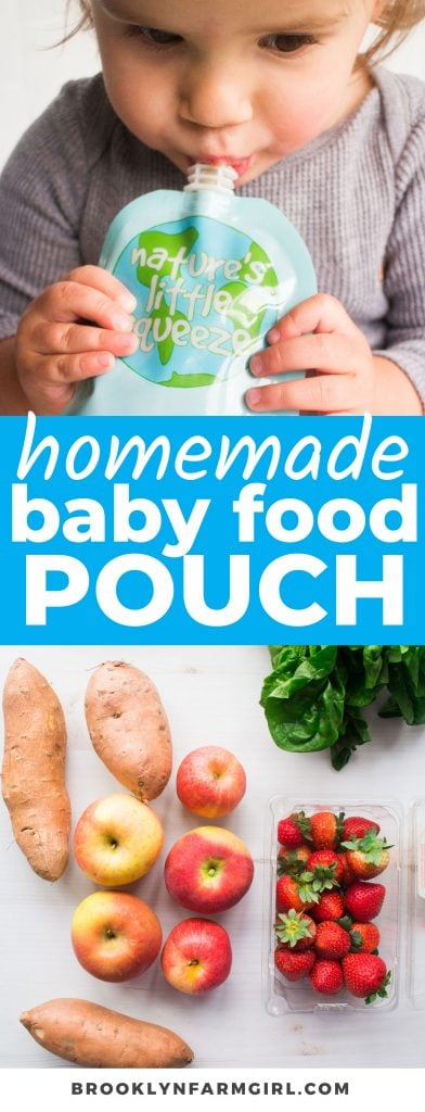 Learn how to make Homemade Baby Food Pouches the easy way! Using reusable pouches and baby food from scratch, this is the best method to keep on hand when you want to feed your baby wholesome, inexpensive meals with ease.
