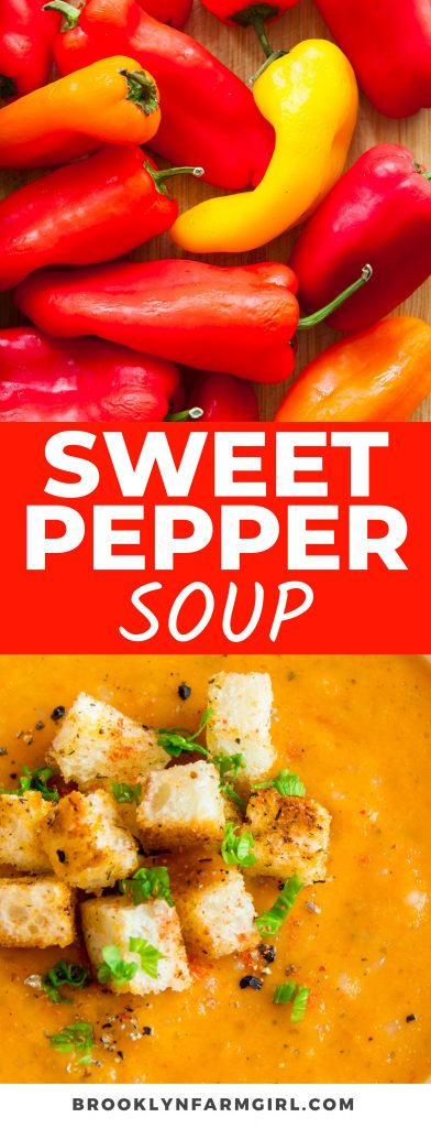 This comforting Creamy Sweet Pepper Soup is made in one pot using a savory mix of sweet peppers, chicken broth, and white rice. It's an easy meal that always comes in handy when you end up with too many peppers.