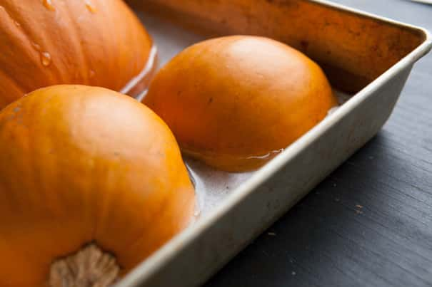 EASY step-by-step instructions on how to make pumpkin puree from fresh pumpkins! Any type of pumpkin works and pumpkin puree can be used in cooking and baking year round! Use this pumpkin puree recipe for pumpkin cookies, pies, cakes, pancakes and more!