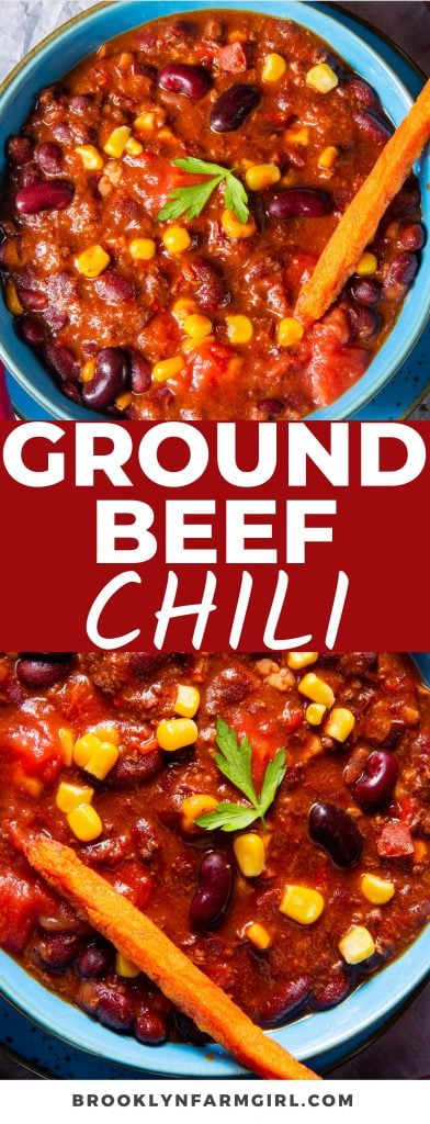 Savory ground beef, tender beans, juicy tomatoes, warm spices, and perfectly cooked veggies come together in this to-die-for Ground Beef Chili. Ready in just 20 minutes, this dish is perfect for cozy weeknights, fall get-togethers, and meal prepping!