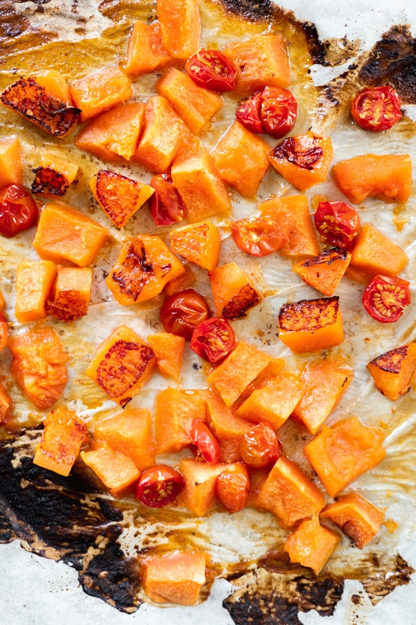 Roasted Cantaloupe Salad