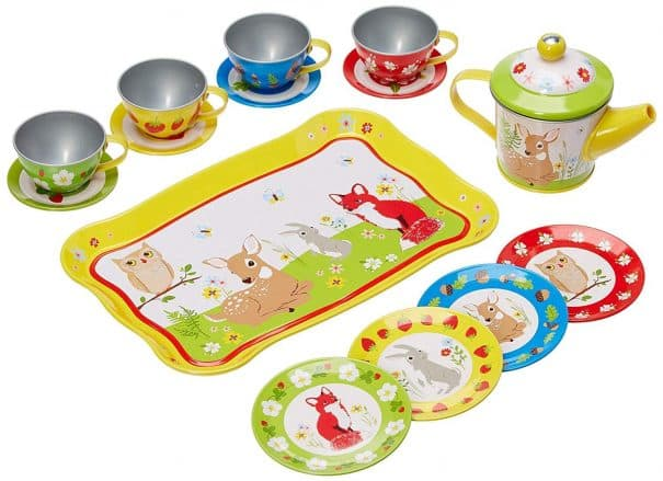 forest animals tea set