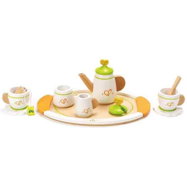 hape wooden tea set for children