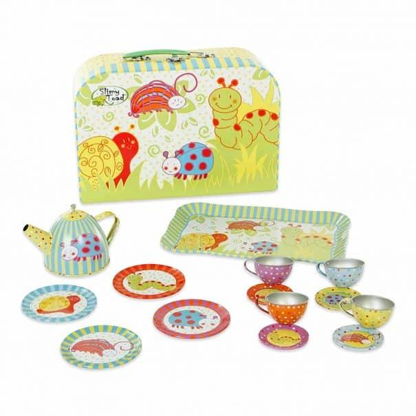 bug tin tea set