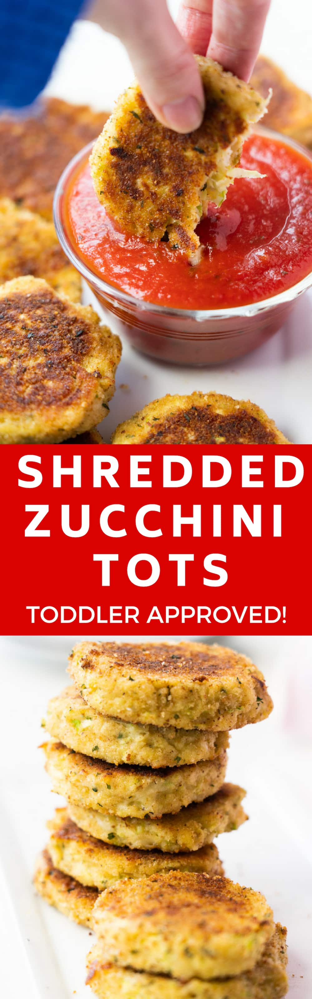 EASY to make zucchini tots recipe that your family is going to love - even your picky toddler! These healthy nuggets are ready in less than 20 minutes total and are 136 calories a serving. Low carb and keto recipe!