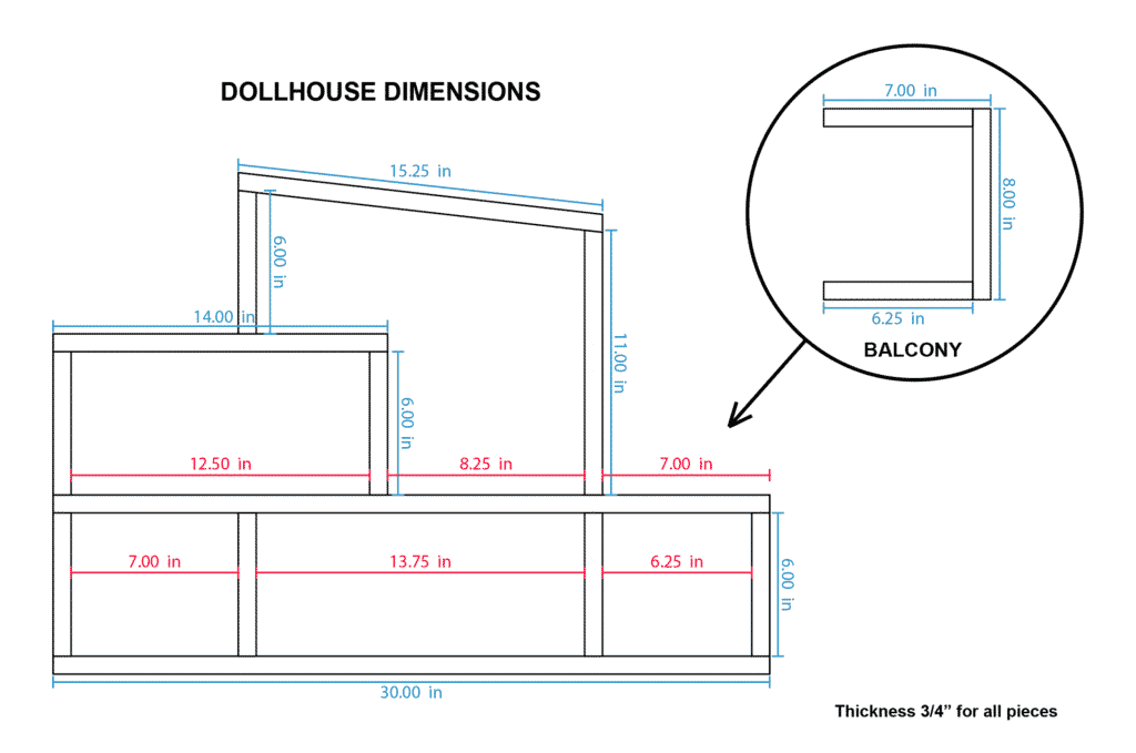 DIY Dollhouse plans