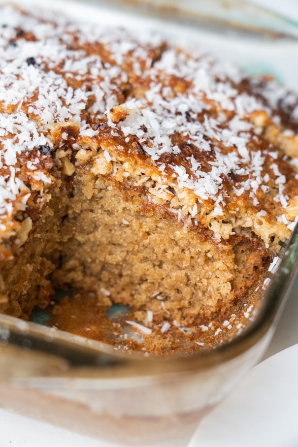 This Lazy Daisy Oatmeal Cake is an easy old fashioned recipe, like a delicious dessert your grandma might have made you growing up. The oats are soaked in boiling water to soften them up perfectly, so every bite is moist and irresistible.