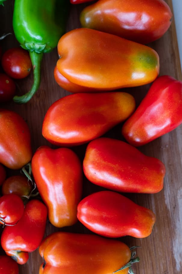 San Marzano Tomatoes from our garden