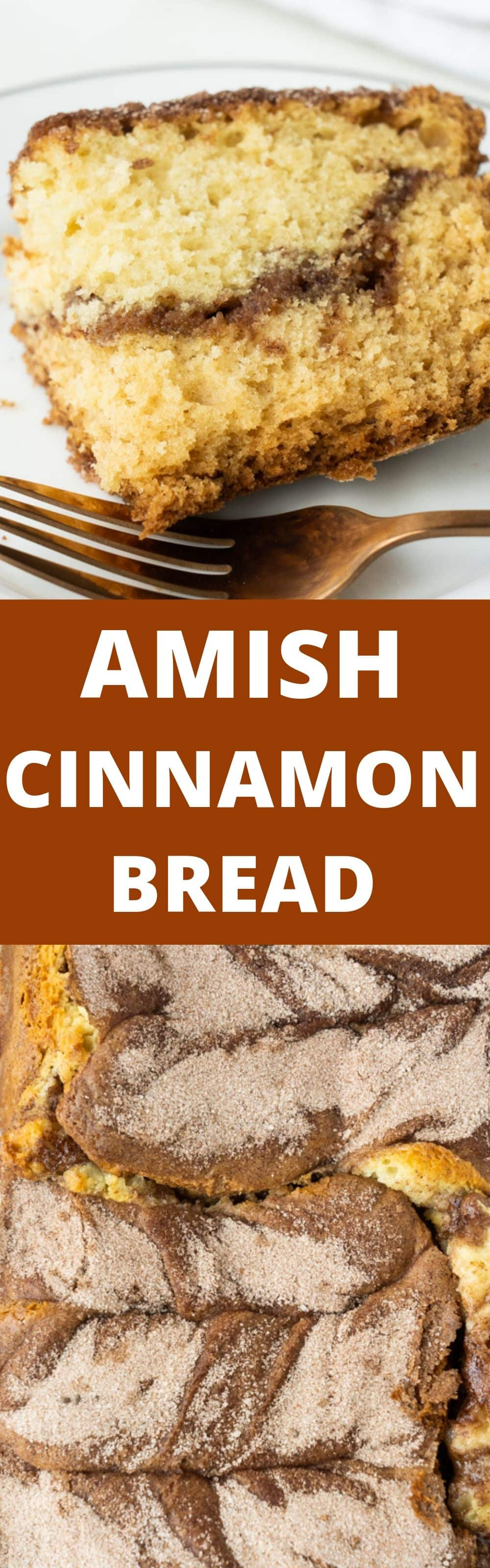 Tender and moist with sweet cinnamon and sugar permeating every crumb, this Amish Cinnamon Bread is not the sort of recipe that one casually bakes and leaves on the counter unattended. It makes for such a delicious treat for brunch or as a snack. It's also perfect for holiday (or anytime) gift giving!