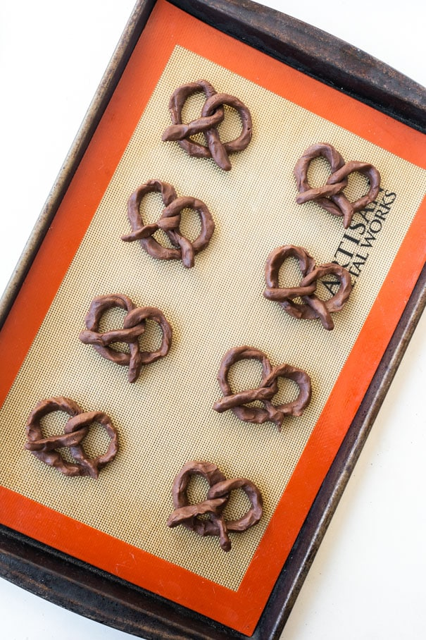 Chocolate Pretzel Cookies is a easy to make Christmas Cookie recipe. They taste like soft chocolate sugar cookies in a cute pretzel shape. Coarse sugar is sprinkled on top. Recipe makes 20 cookies.