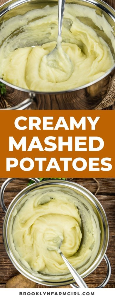 The best creamy mashed potatoes recipe made with cream cheese.  Easy to make, no hand mixer required!