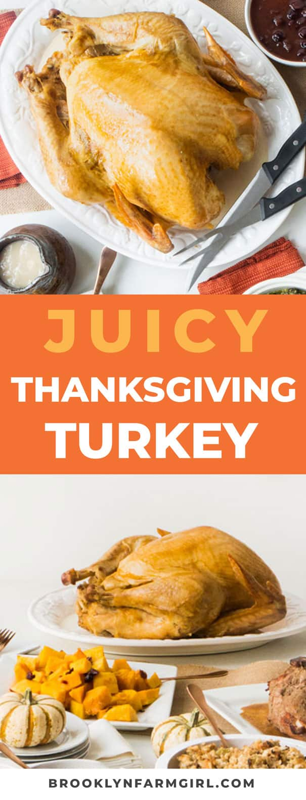 This is an easy juicy Thanksgiving Turkey recipe.   Nothing fancy here, just the best homemade Thanksgiving turkey you can make!  The meat is so juicy, moist and full of flavor!