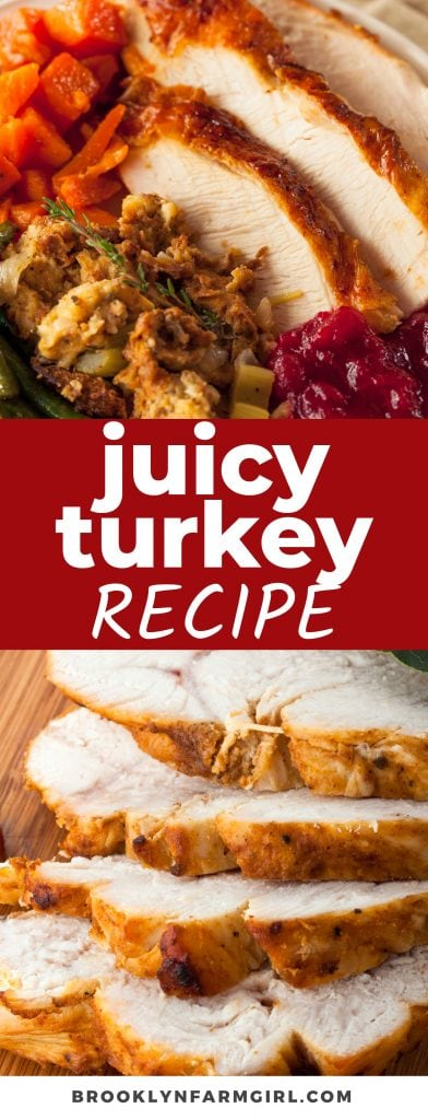 This Juicy Thanksgiving Turkey is the ultimate centerpiece on the holiday table. Dressed in herbs and butter while surrounded by tender roasted vegetables, every bite of this Thanksgiving classic is moist and delicious!