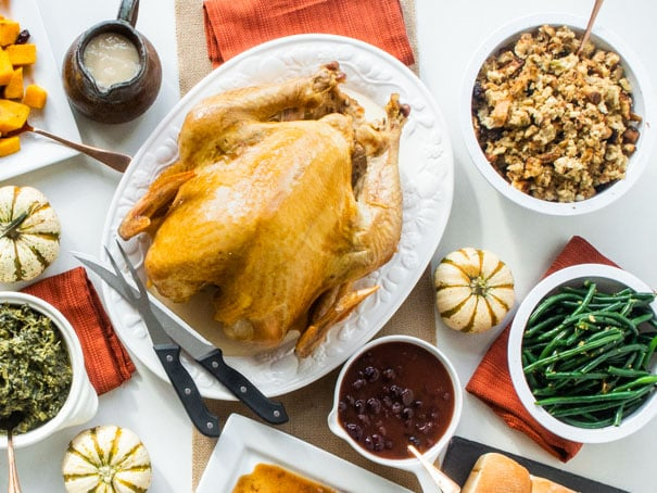 This is an easy juicy Thanksgiving Turkey recipe.   Nothing fancy here, just the best homemade Thanksgiving turkey you can make!  My family stopped trying new recipes and we only make this now!