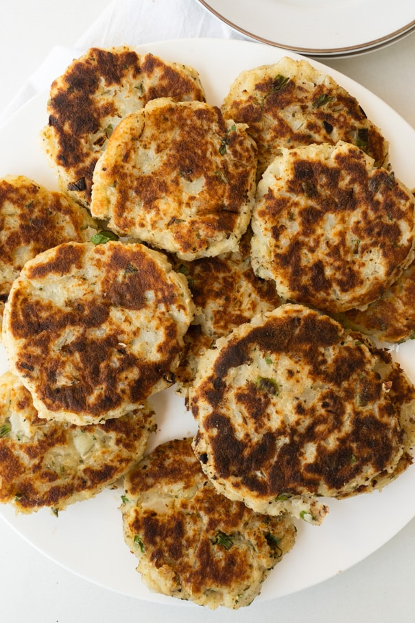 These delicious, savory Mashed Potato Patties are crispy on the outside and soft and creamy on the inside. They're the best way to use up your leftover mashed potatoes and make for a tasty side dish recipe!