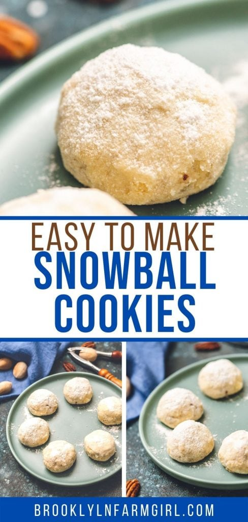 Easy to make Snowball Cookies that will melt in your mouth. These classic Christmas Cookies are made with pecans and then rolled in powdered sugar for a light, tender cookie everyone is going to love!