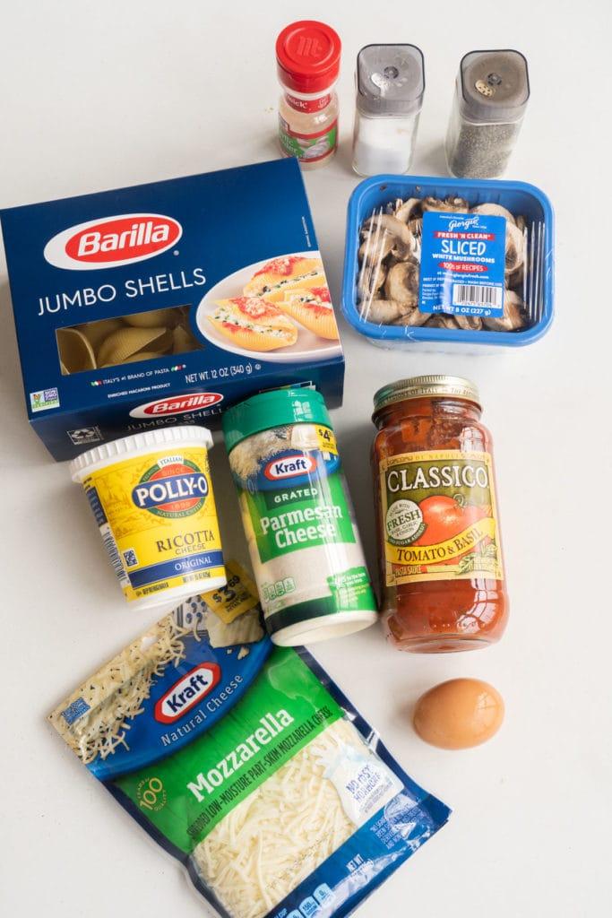 stuffed shell ingredients