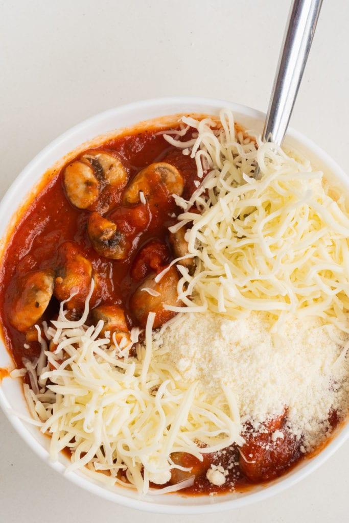 pasta sauce mixture for stuffed shells