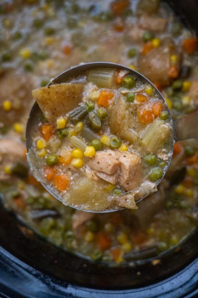 Ladle of Chicken Pot Pie