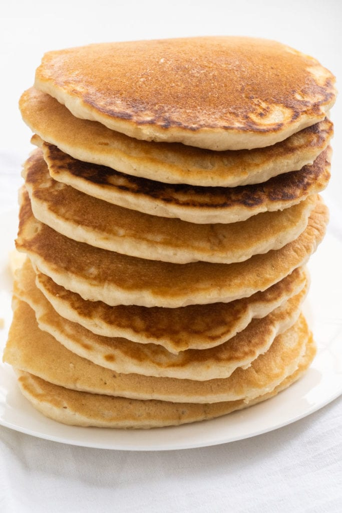 fluffy stack of pancakes
