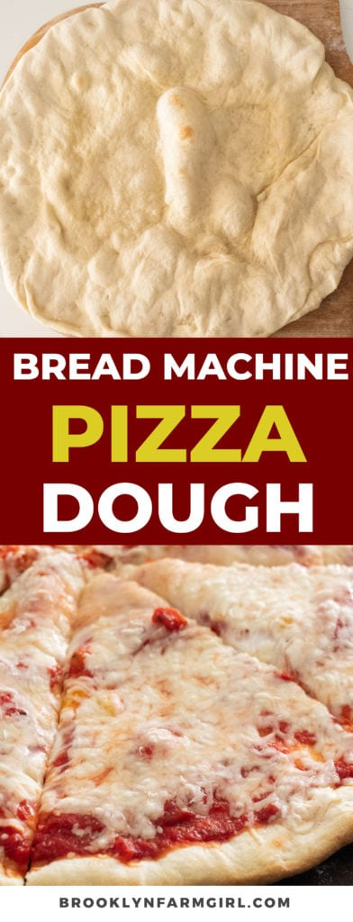 Homemade Bread Machine Pizza Dough made with simple pantry ingredients. This New York City style pizza is quick and easy to make!