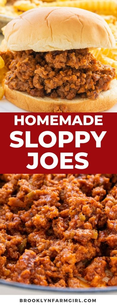 Homemade Sloppy Joes recipe that tastes better than Manwich and is ready in 35 minutes! Make a simple sauce with ketchup, brown sugar and cocoa powder!  I stopped buying canned sloppy joe sauce and only make my own now!