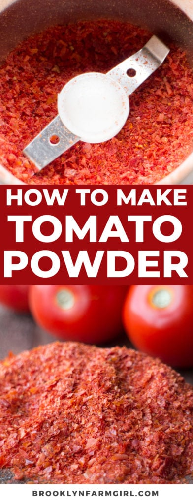 How to Make Tomato Powder out of tomato skins! Easy one ingredient no waste recipe! You'll never throw away tomato skins again!