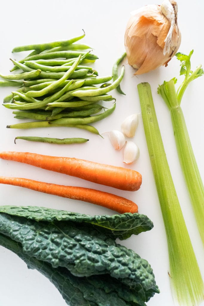 vegetables needed for minestrone soup