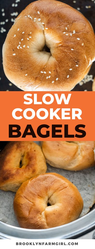 You can make bagels in the slow cooker in 2 hours!  This easy  homemade bagels recipe will change your life!