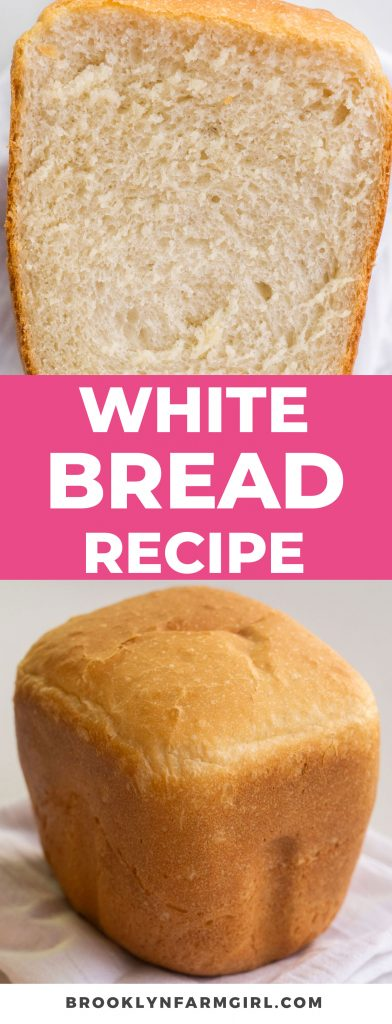 It's easy to make homemade white bread in the bread machine.  This recipe makes a soft and fluffy loaf, perfect for sandwiches and toast!