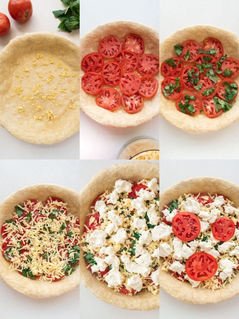 step by step pictures on how to make tomato pie