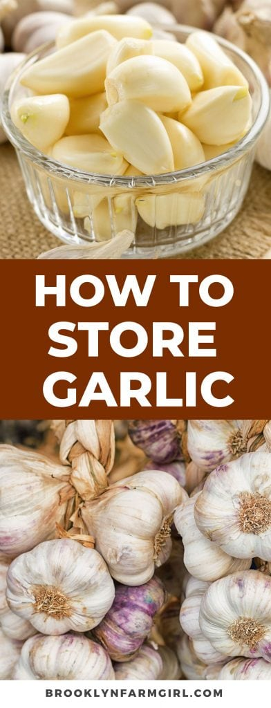 Here's the best ways on how to store garlic to make it last for months.  Includes tips on how to store peeled garlic, how to freeze garlic, and recipes you can make.
